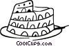 Vector Clip Art graphic  of a Roman Coliseum
