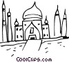 Vector Clip Art image  of a European building