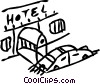 Hotels and Motels Vector Clipart image