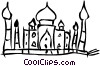 European Buildings Vector Clipart image