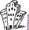 Vector Clip Art picture  of an Apartments Condominiums