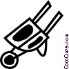 Wheelbarrows Vector Clipart picture