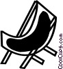 Deck Chairs and Beach Equipment Vector Clipart illustration