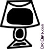 Vector Clip Art graphic  of a Living Room Lights