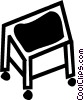 Vector Clipart graphic  of a Hand Carts and Dollies