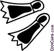 Vector Clipart picture  of a Fins