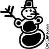 Vector Clipart image  of a Snowmen