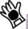 Vector Clip Art image  of a Rubber Gloves