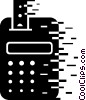 Vector Clip Art image  of a Calculators