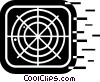 Air Traffic Control Vector Clipart graphic