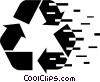 Vector Clip Art picture  of a Recycling Symbols