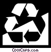 Vector Clip Art graphic  of a Recycling Symbols