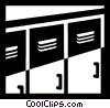 Lockers Vector Clip Art graphic