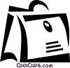 Vector Clip Art image  of a briefcase