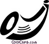 Vector Clip Art graphic  of a Misc Horns