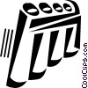 Vector Clip Art picture  of a panpipes