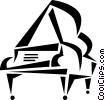 Vector Clip Art picture  of a Pianos