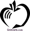Vector Clipart graphic  of an Apples