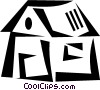 Vector Clipart image  of a Rural Housing