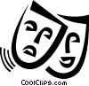 Comedy and Drama Masks Vector Clipart image