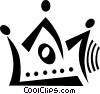Vector Clipart graphic  of a crown