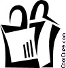 Vector Clip Art graphic  of a shopping bag