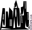Vector Clipart illustration  of a buildings