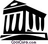 financial institution Vector Clipart illustration