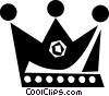 Vector Clip Art image  of a crown