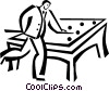 Pool Players Vector Clip Art image