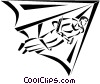 man hang gliding Vector Clipart picture