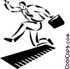 businessman running Vector Clipart illustration