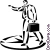 Vector Clipart illustration  of a businessman walking to a