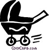 Strollers and Carriages Vector Clip Art image
