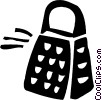 Vector Clipart illustration  of a Cheese Grater