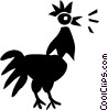 Vector Clip Art picture  of a Roosters