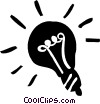 Vector Clipart graphic  of a Light bulbs
