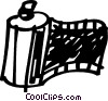 Vector Clip Art graphic  of a camera film