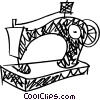 Vector Clipart illustration  of a Sewing Machines