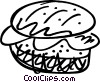 Vector Clipart illustration  of a Hamburgers