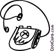 Vector Clipart graphic  of a Portable CD-ROM Players