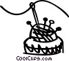 Pin Cushions Vector Clip Art picture