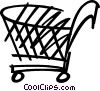 Vector Clip Art picture  of a Shopping Carts