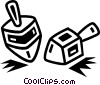 Dreidels Vector Clip Art graphic