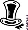 Top Hats Vector Clipart graphic