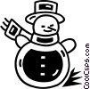 Vector Clip Art picture  of a Snowmen