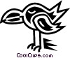 Vector Clip Art picture  of a Various Birds