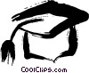 Vector Clipart illustration  of a Mortar Boards