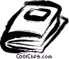 Vector Clip Art graphic  of a Books and Projects