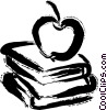 Vector Clipart illustration  of a Books and Projects